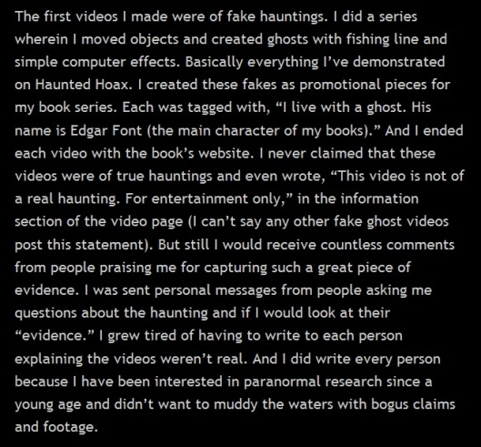 Fake Hauntings